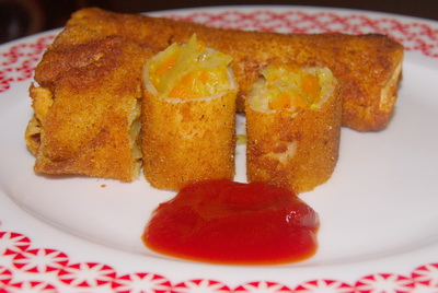 Vegetable roll banglarecipes by rownak vegetable roll forumfinder Image collections