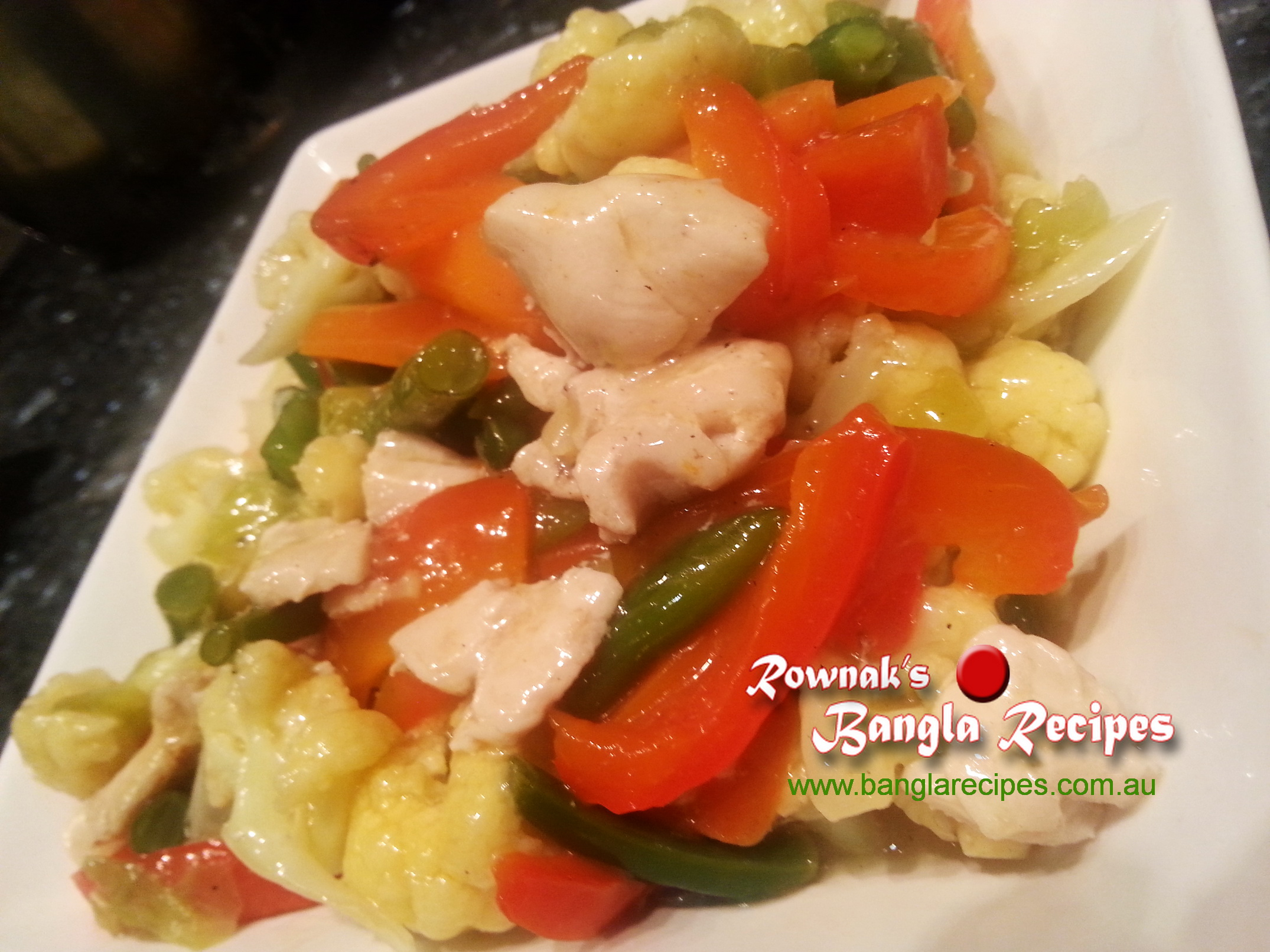 Chinese mixed vegetables with chicken banglarecipes by rownak chinese mixed vegetables with chicken forumfinder