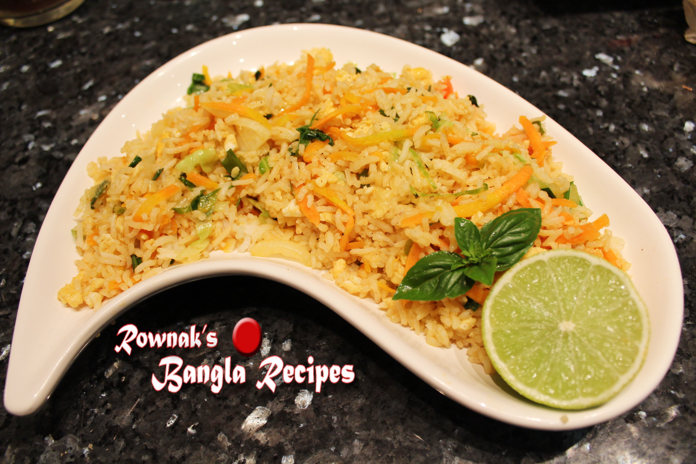 Bangladeshi Chinese Style Egg Fried Rice | Banglarecipes ...