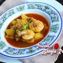 Green papaya Curry with Prawn / Pepe Chingri