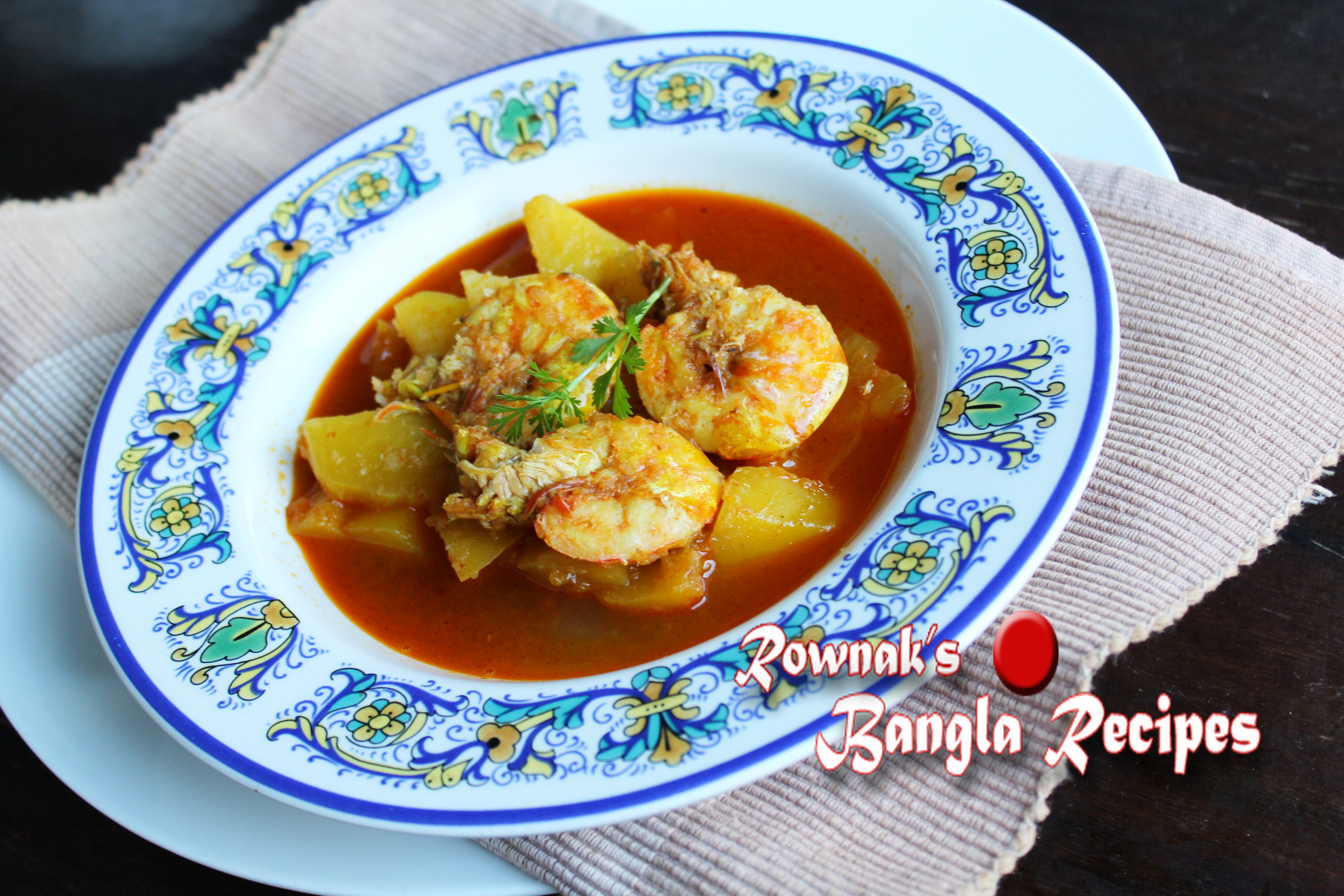 Green papaya Curry with Prawn / Pepe Chingri | Banglarecipes by Rownak