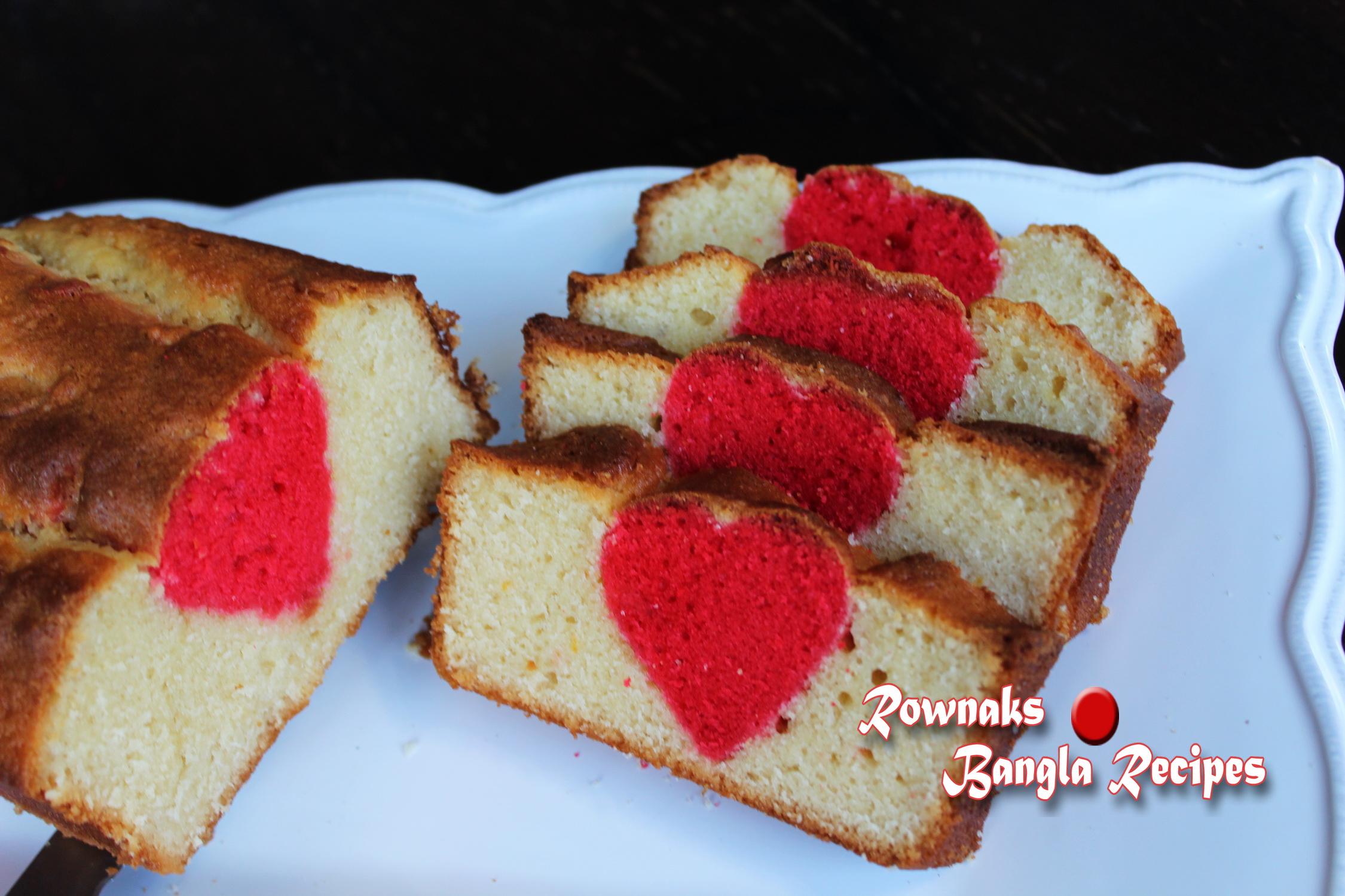 Surprise Inside Valentine Cake
