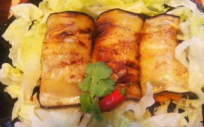Grilled-eggplant -with-stuffing