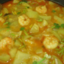 Bottle Gourd with Prawn/ Lau Chingri