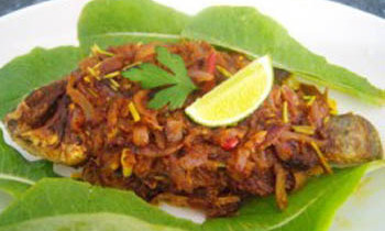 Spicy Tilapia Fry / Tilapia Dopiaza