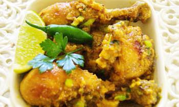 Coriander chicken/ Dhone Patay Murgi Bhuna