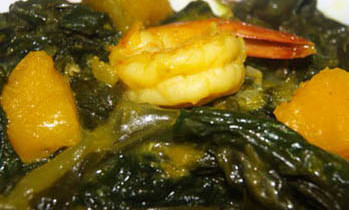 Indian Spinach with Pumpkin / kumra Pui shak