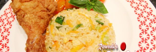 Bangladeshi Chinese Style Egg Fried Rice