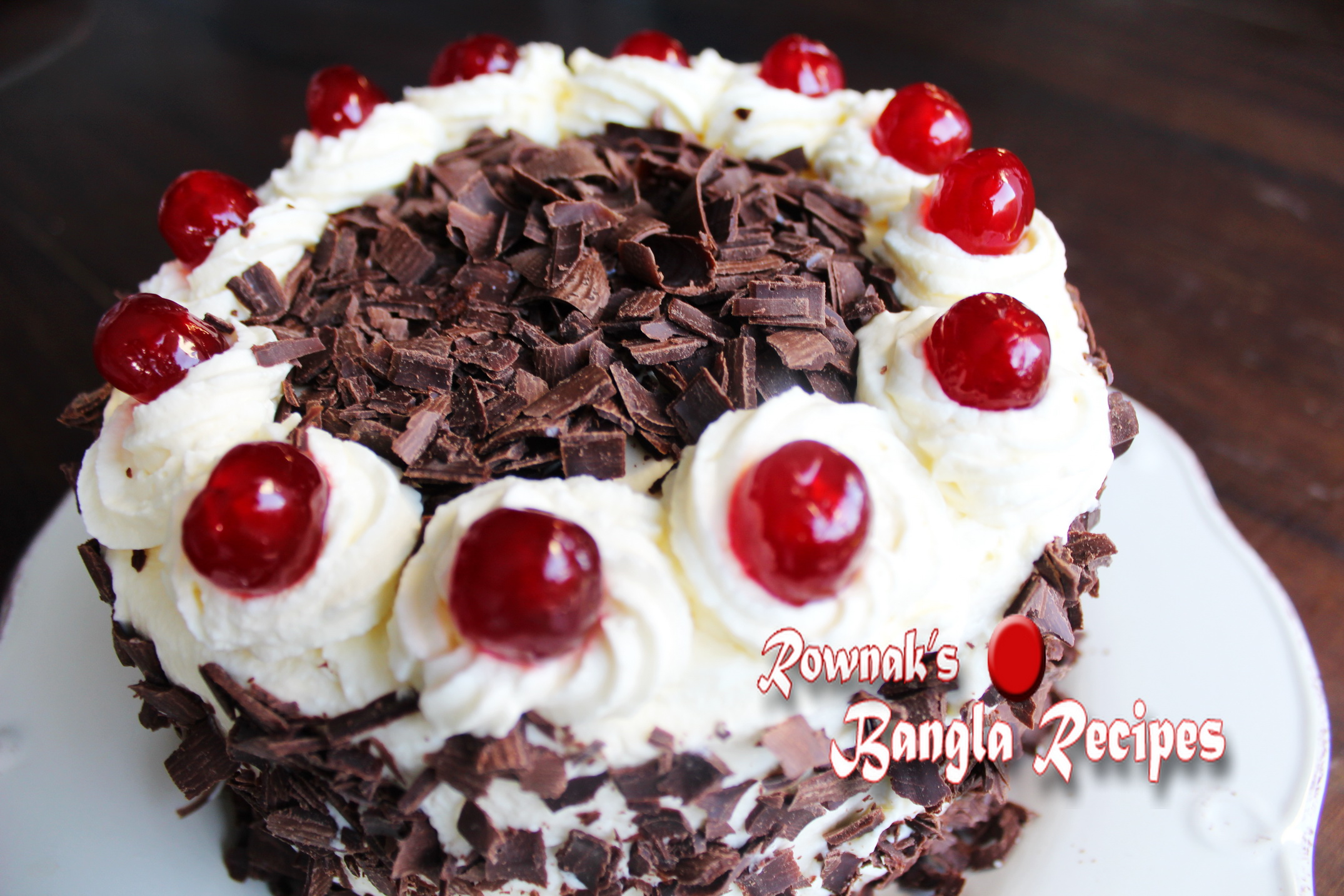 Black Forest Cake With Color Icing