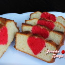 Surprise Inside Valentine Cake / Hidden heart loaf cake