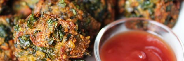 Pat shaker Bora / Jute Leaf Fritter / পাট শাকের বড়া