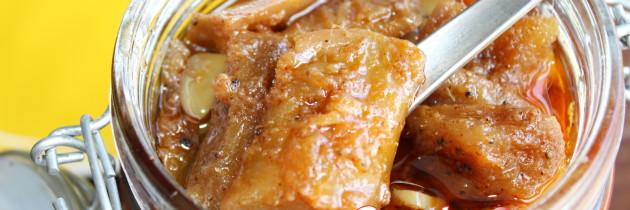 Sweet and sour mango pickle / Amer Tok Misti Achar / আমের টক মিষ্টি আচার